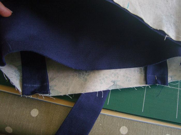 Montage des anses suite - tutoriel tote bag parfumdecouture.com