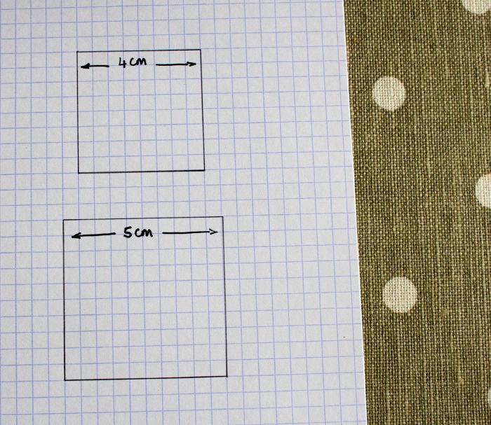 gabarits carrés mesures finies et coupe