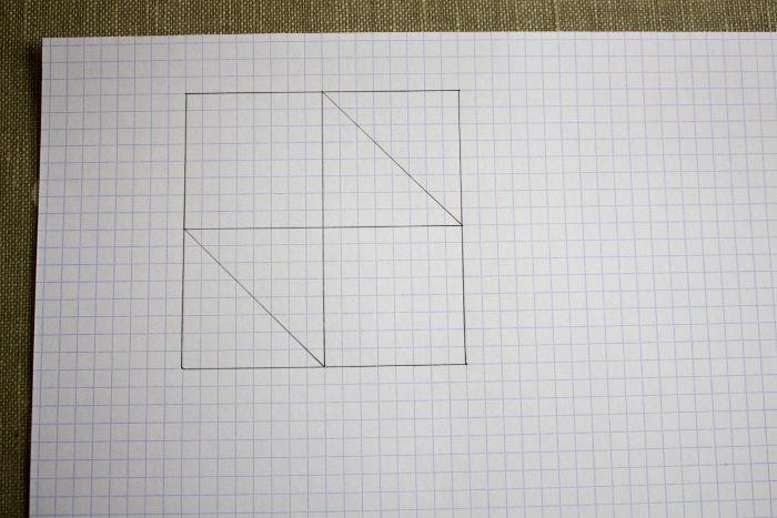 bloc de patchwork dessin