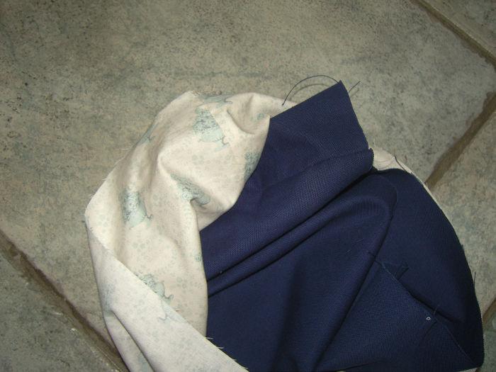 détail positionnement des sacs pour le montage - tutoriel tote bag parfumdecouture.com