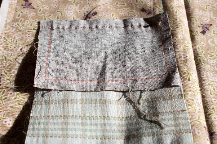 Assemblage de la poche intérieure - DIY trousse de couture parfumdecouture.com