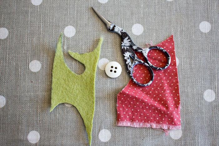 Matériel pour recouvrir un bouton en tissu - tutoriel parfumdecouture.com