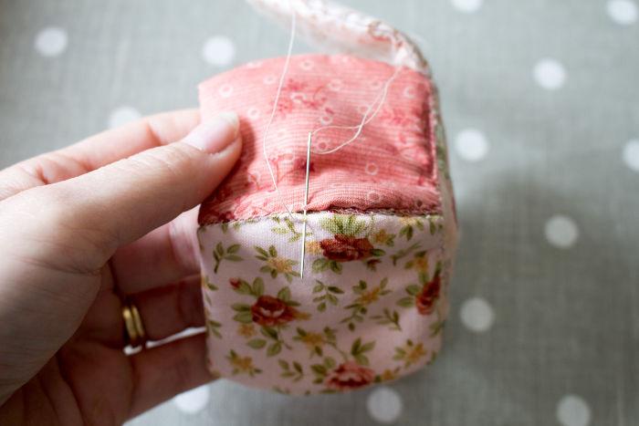 couture double montage de la corbeille en tissu - parfumdecouture.com