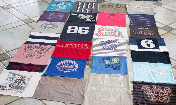 Couture des bandes de tee shirt - diy tee shirt quilt parfumdecouture.com