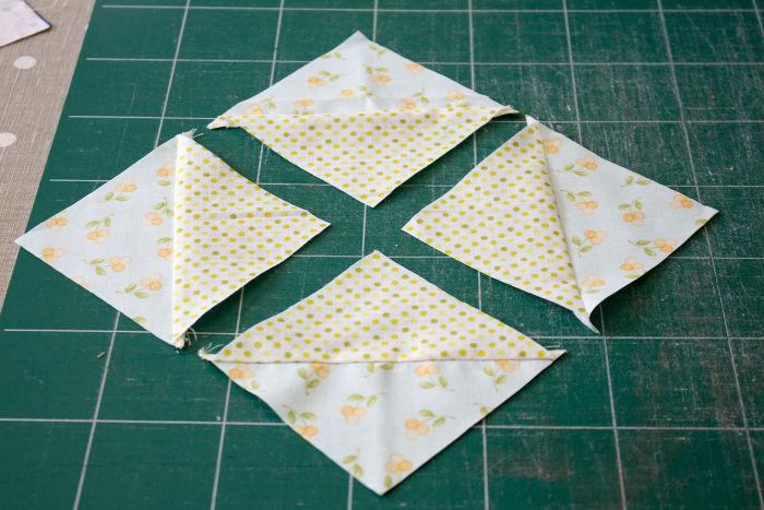 Ecrasez les couture au fer - quilt pinwheel parfumdecouture.com