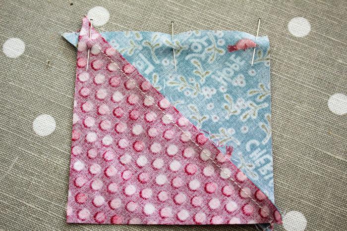 Assemblage du bloc - quilt pinwheel parfumdecouture.com