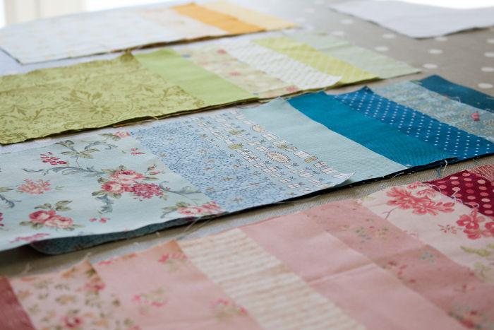 Choix des tissus - quilt pinwheel parfumdecouture.com