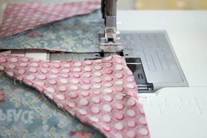 tuto couture à la chaîne des blocs - quilt pinwheel parfumdecouture.com