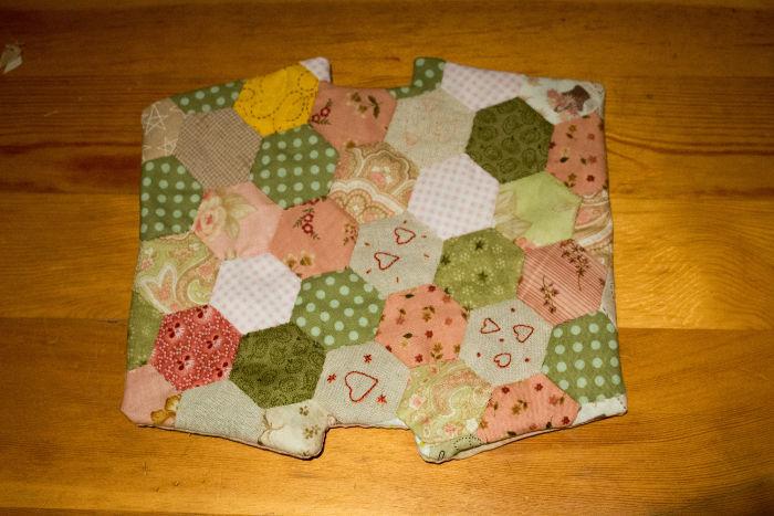 Retournez l'ensemble - diy pochette hexagones parfumdecouture.com