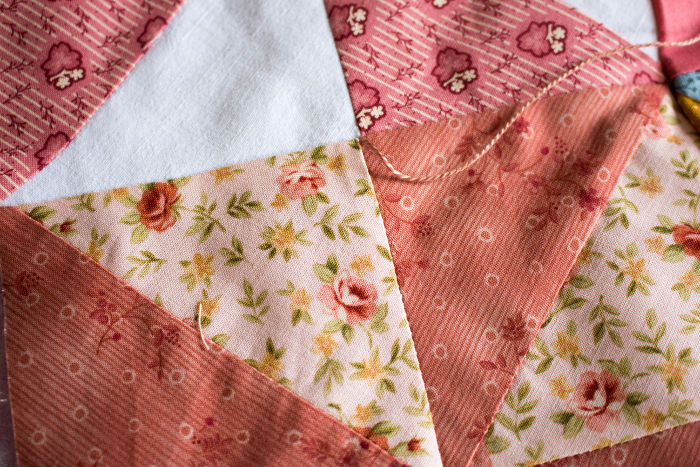 Tuto quilting par nouage 2 - montage du quilt pinwheel parfumdecouture.com