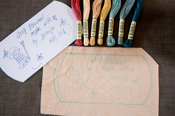 quilt label prêt à broder - Tuto comment faire un quilt label parfumdecouture.com