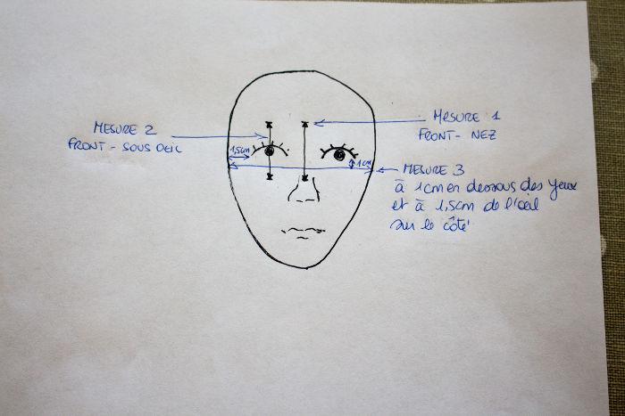 Prise de mesures pour votre patron - Masque de sommeil parfumdecouture.com