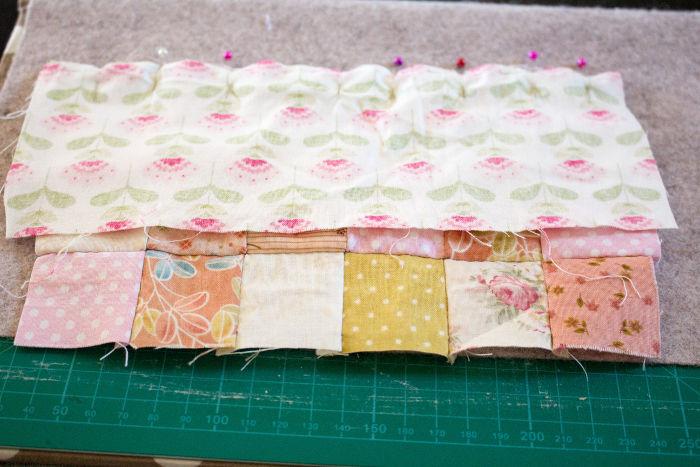Assemblage scrap quilt - Scrap quilt housse d'ipad parfumdecouture.com