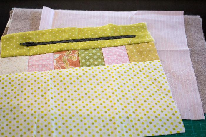 Assemblage côté fermeture éclair - Scrap quilt housse d'ipad parfumdecouture.com