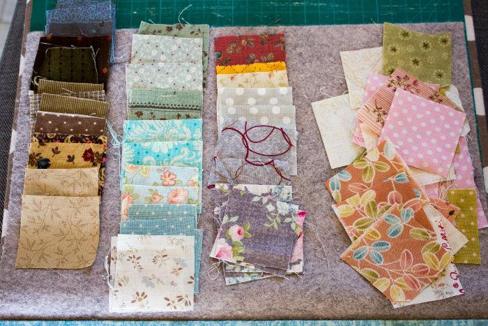 Choix des tissus - Scrap quilt housse d'ipad parfumdecouture.com