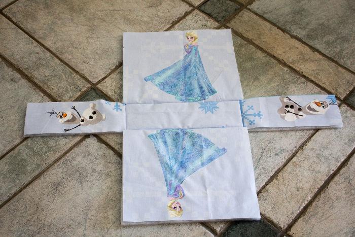 Extérieur avant couture des côtés -Sac reine des neiges disney parfumdecouture.com