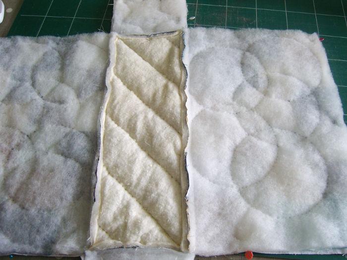 Verso du sac motif petits carrés - DIY Sac motif Petits carrés patchwork parfumdecouture.com