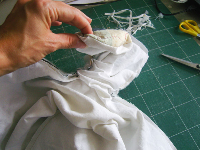 Retourner le sac - DIY Sac motif petits carrés patchwork parfumdecouture.com