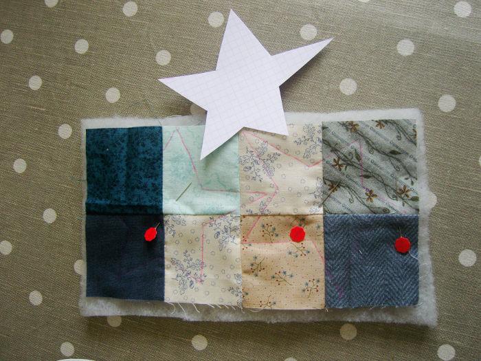 Quilting des petits côtés du sac -DIY Sac motif petits carrés patchwork parfumdecouture.com