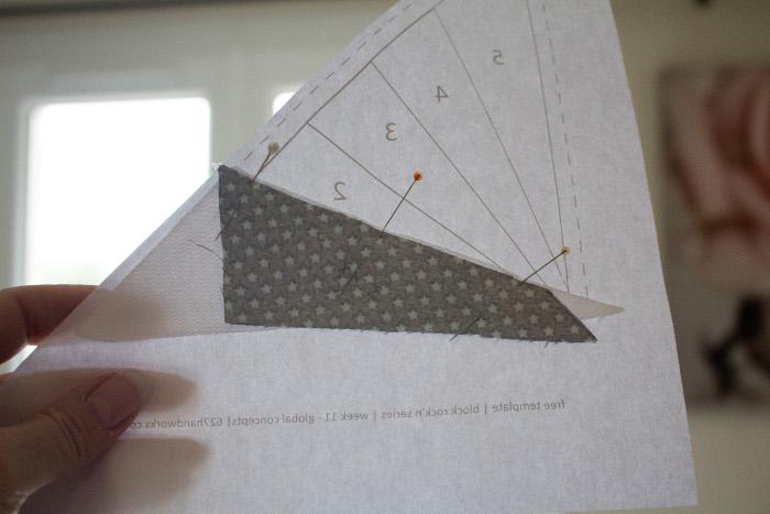 Couture dans l'ordre des numéros - Technique du paper piecing ou couture sur papier parfumdecouture.com