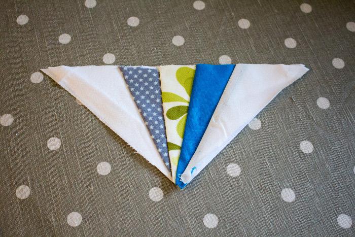 bloc intermédiaire terminé - Technique du paper piecing ou couture sur papier parfumdecouture.com