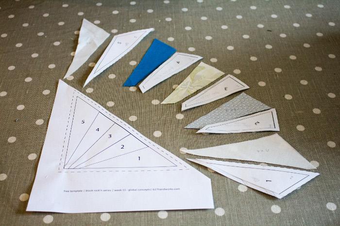 Découpe des morceaux - Technique du paper piecing ou couture sur papier parfumdecouture.com