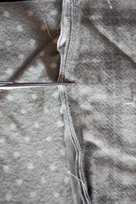 Découpe des franges- DIY comment faire un rag quilt parfumdecouture.com