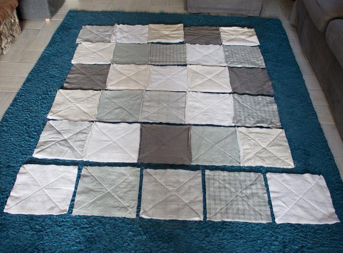 Assemblage final du rag quilt - DIY comment faire un rag quilt parfumdecouture.com