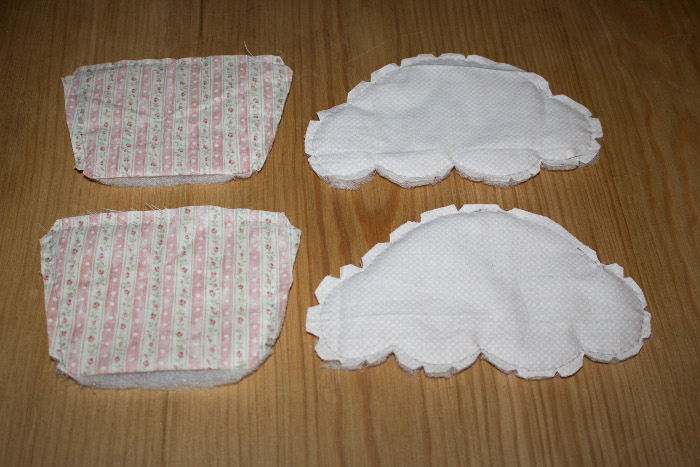 Coudre les pièces et les crantez, puis les retourner - Trousse cupcake parfumdecouture.com