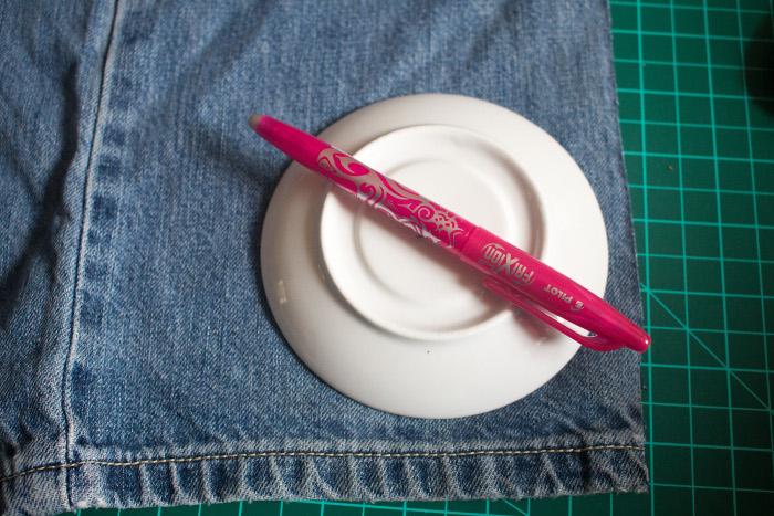 Découpe des cercles - mug rug pliage japonais parfumdecouture.com