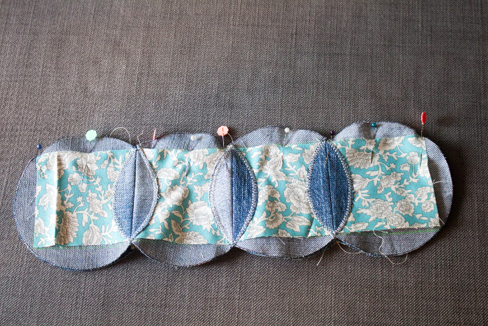 Assemblage des lignes - mug rug pliage japonais parfumdecouture.com