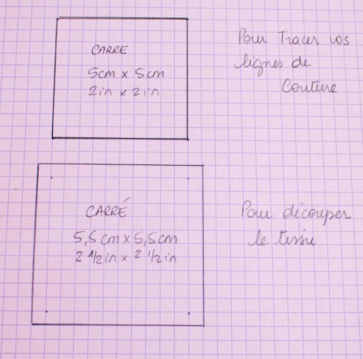 Patron des carrés - DIY rainbow quilt réversible parfumdecouture.com
