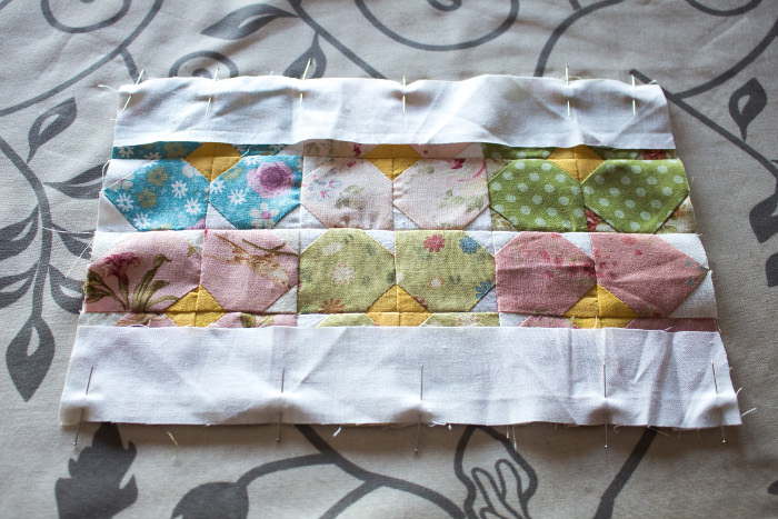 couture des bandes d'encadrement mini quilt - DIY sac de rentrée parfumdecouture.com