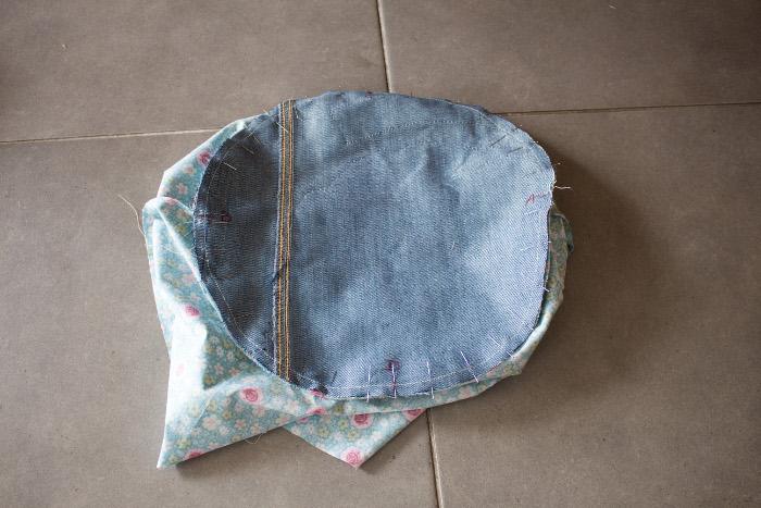 Epinglage doublure - DIY sac de rentrée parfumdecouture.com