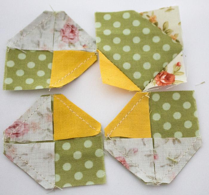 Bloc fleur suite du montage - DIY sac de rentrée parfumdecouture.com