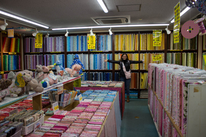 5F étage réservé aux tissus de patchwork Nippori Town Tokyo magasin TOMATO - nippori town le quartier du tissu de Tokyo parfumdecouture.com
