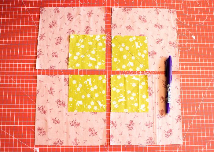 Marquez les diagonales - DIY Comment faire un bloc diamant parfumdecouture.com