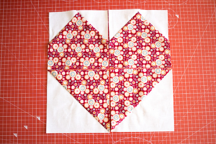 les 4 sous unités avant couture - DIY bloc coeur parfumdecouture.com