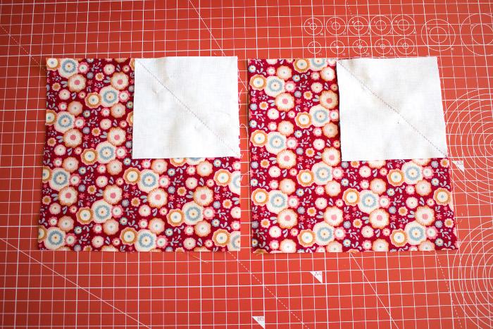 Couture des carrés dans les angles - DIY bloc coeur parfumdecouture.com