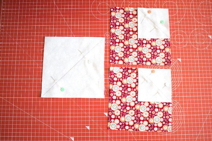 Préparation des sous unités du haut - DIY bloc coeur parfumdecouture.com