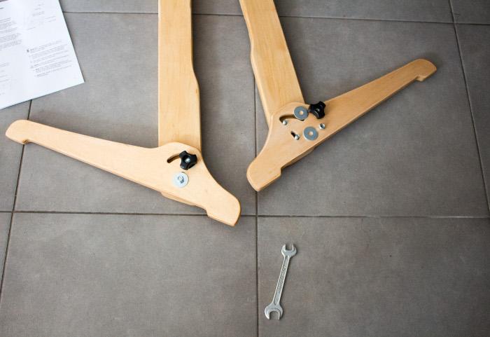montage des pieds 2ère partie - Tuto monter un quilting frame EZ3 site parfumdecouture.com