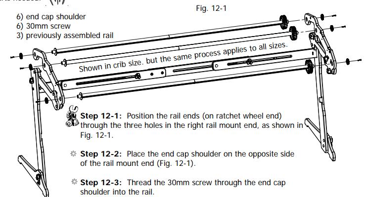 Schéma de montage 11 EZ3 du mode d'emploi - tuto monter un quilting frame EZ3 site parfumdecouture.com