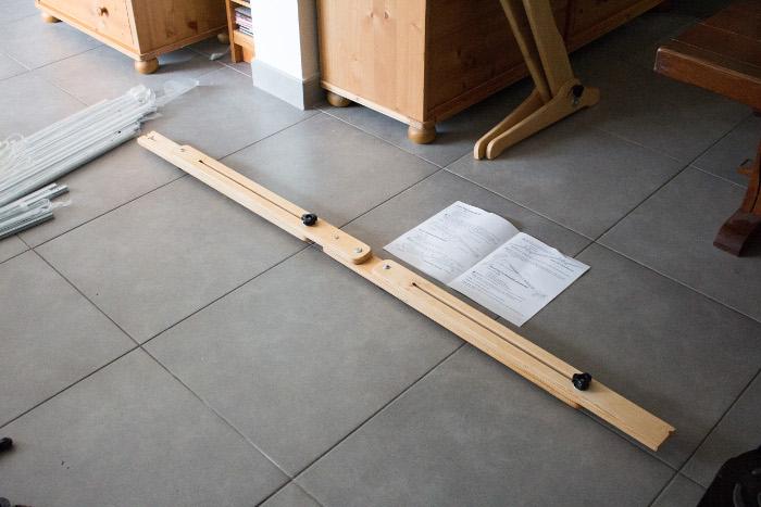 Barres latérales avec extension montées - Tuto monter un quilting frame EZ3 parfumdecouture.com