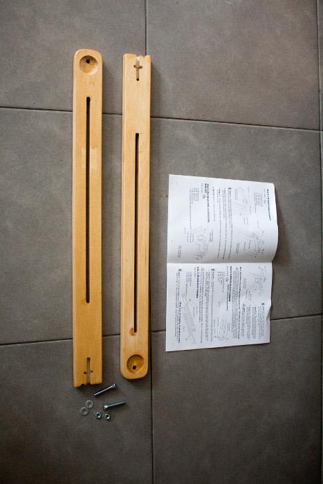 Montage des barres latérales - Tuto monter un quilting frame EZ3 parfumdecouture.com