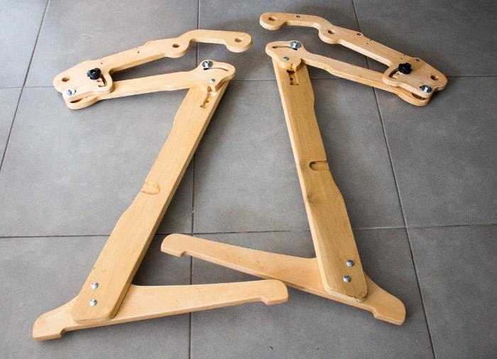 montage des pieds terminé - Tuto monter un quilting frame EZ3 site parfumdecouture.com