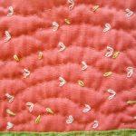 patchwork quilté à la main et brodé