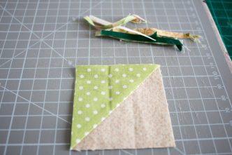 half square triangle, ou comment faire des unités composée de 2 triangles rapidement.