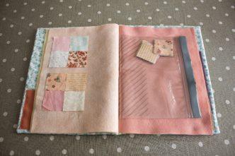 DIY pour fabriquer un cahier de composition de bloc en tissu. Parfumdecouture.com